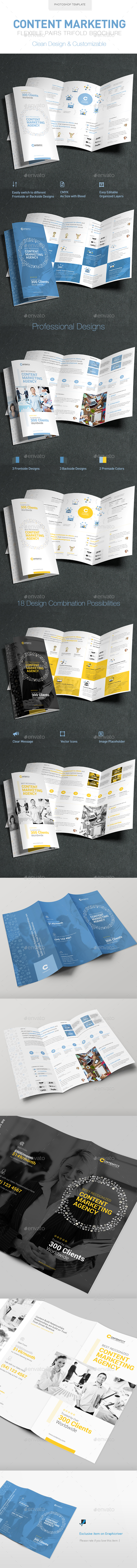 Content Marketing Trifold Brochure - Brochures Print Templates