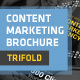 Content Marketing Trifold Brochure - GraphicRiver Item for Sale