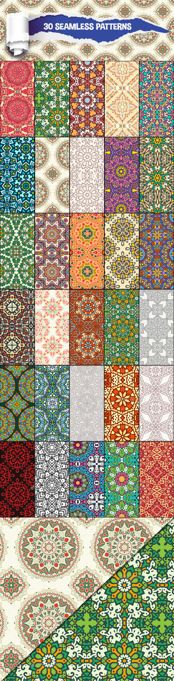 30 Floral Seamless Patterns - Patterns Decorative