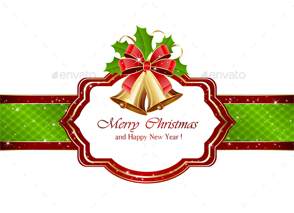 Christmas Card with Bells - Christmas Seasons/Holidays