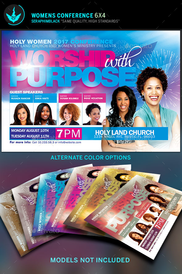 Women Conference Flyer Template By Seraphimblack | Graphicriver