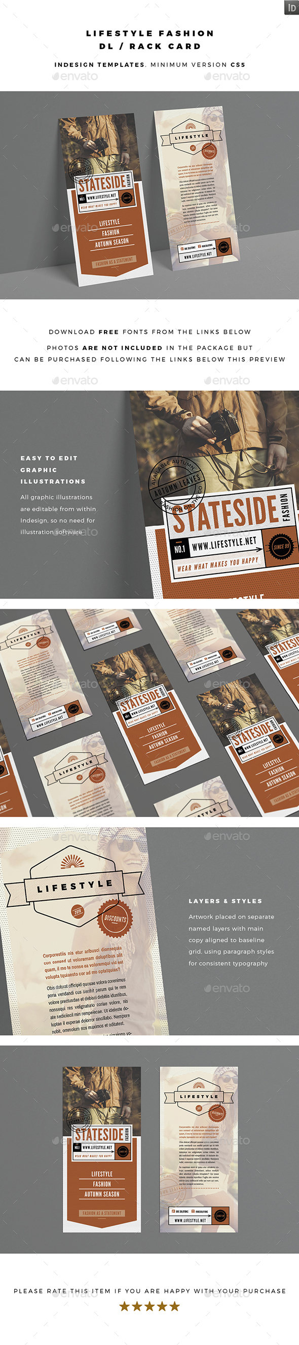 DL / Rack Card - Lifestyle Fashion - Flyers Print Templates