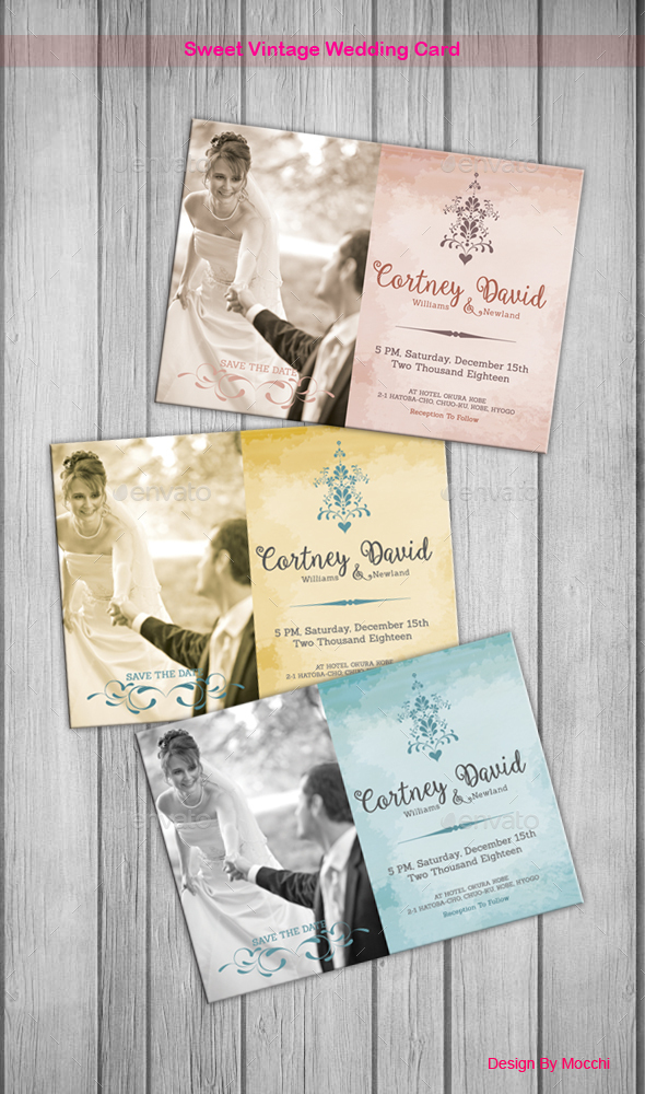 Sweet Vintage Wedding Card - Weddings Cards & Invites