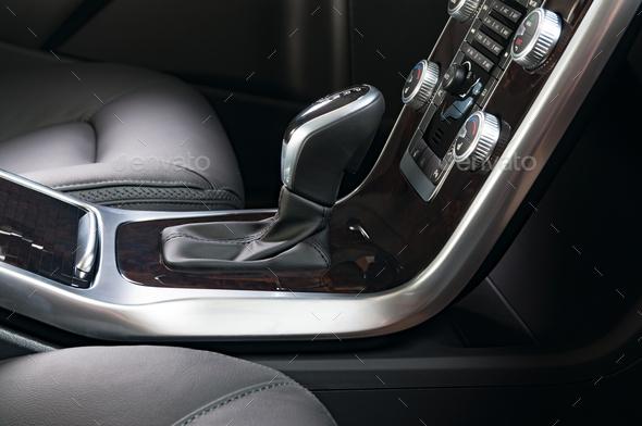 Modern car interior - Stock Photo - Images