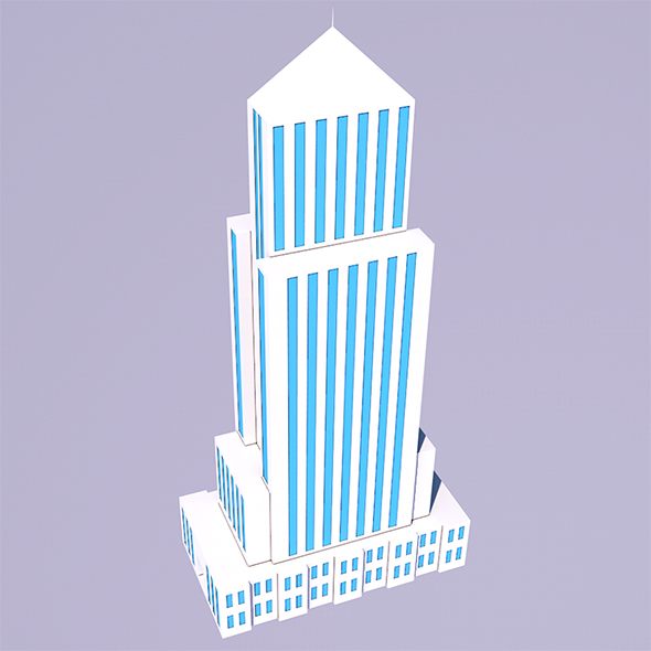 Low Poly Skyscraper - 2 (Ready to Render) - 3DOcean Item for Sale