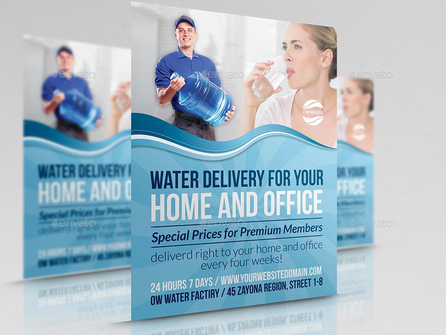 Brochure Template Water Aqua Splash Bottle Stock Vector 191377391 ...