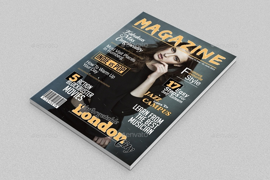 Magazine Cover Template Indesign by javismum   GraphicRiver