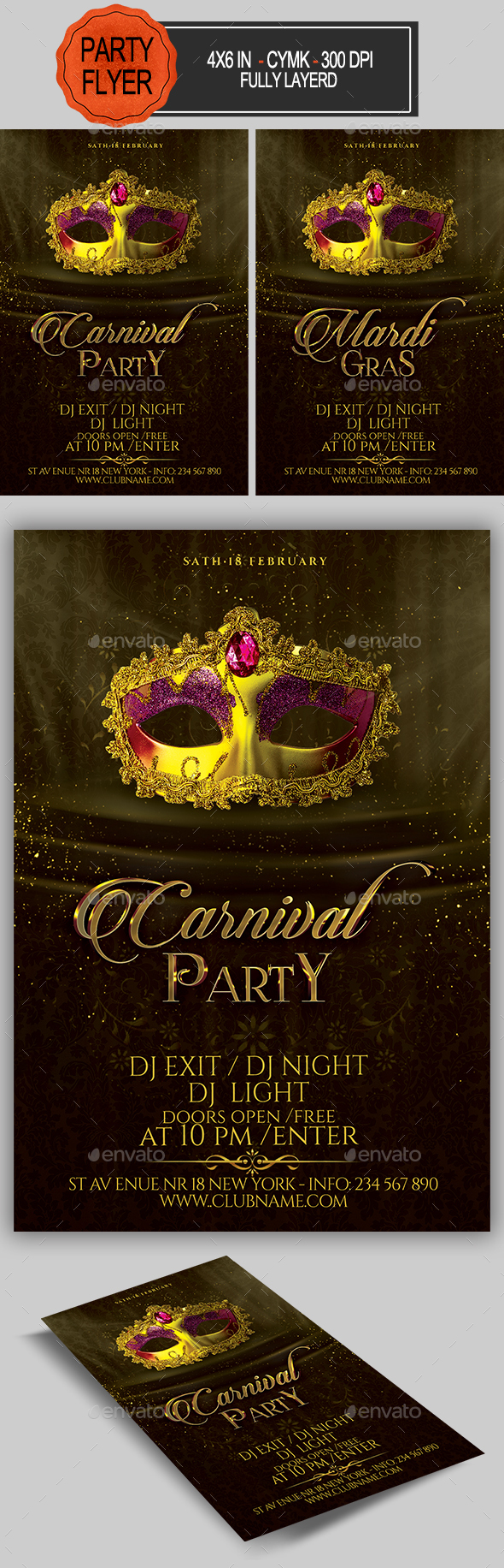 Carnival Party Flyer - Clubs & Parties Events