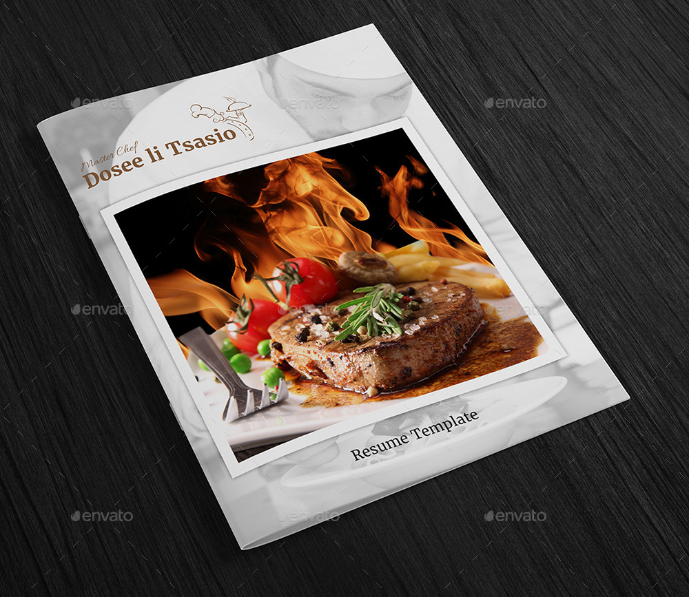 Chef Resume Template  Page Booklet By Designgenisys  Graphicriver