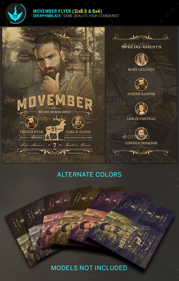 Movember Indie Flyer Template - Events Flyers