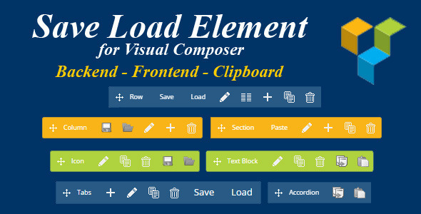 Save Load Element for Visual Composer Prestashop - CodeCanyon Item for Sale