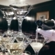 The Waiter Pours Champagne In Glass Tower - VideoHive Item for Sale