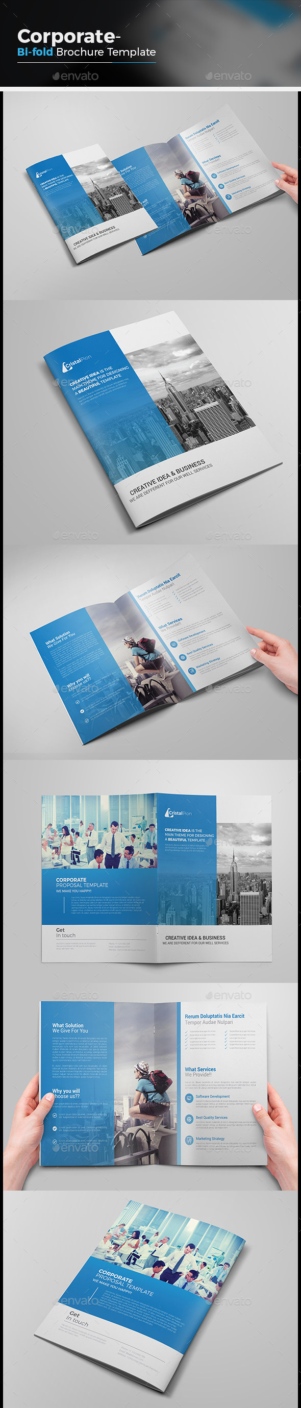 Clean Bi-fold Brochure - Corporate Brochures