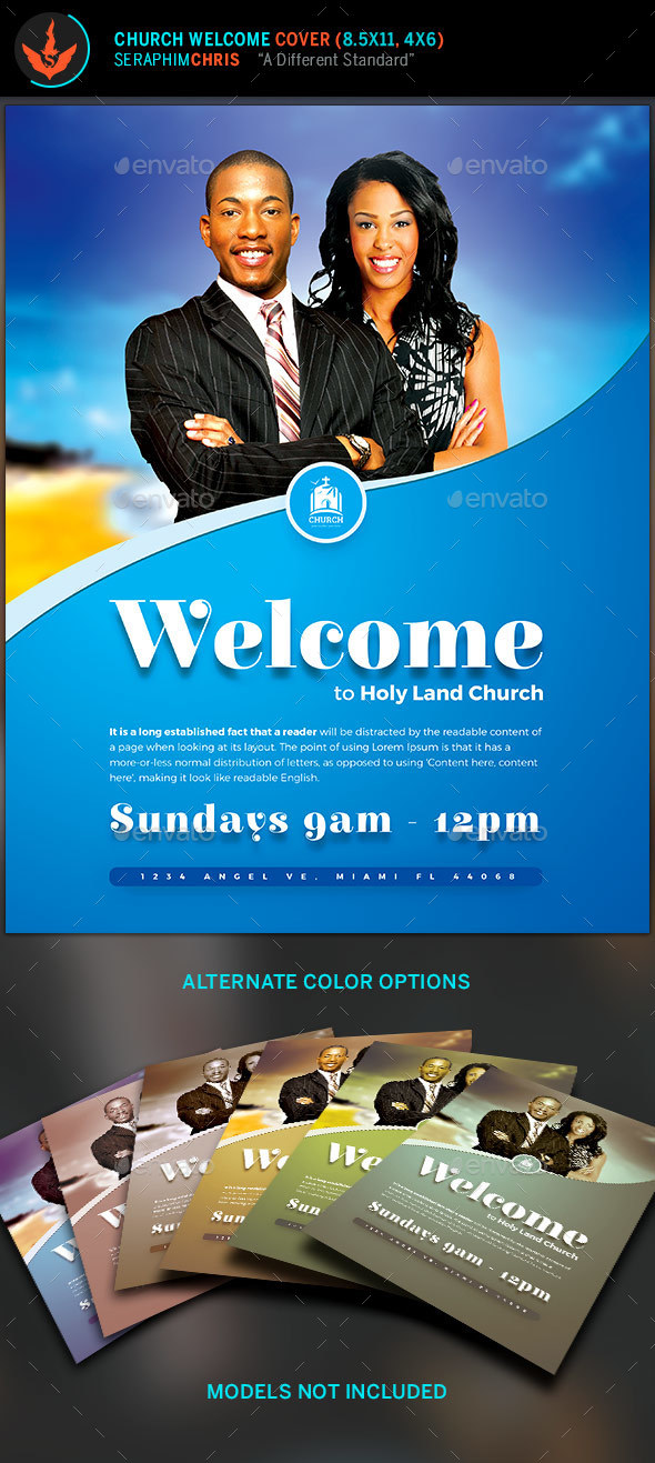 Church Welcome Cover Template - Church Flyers