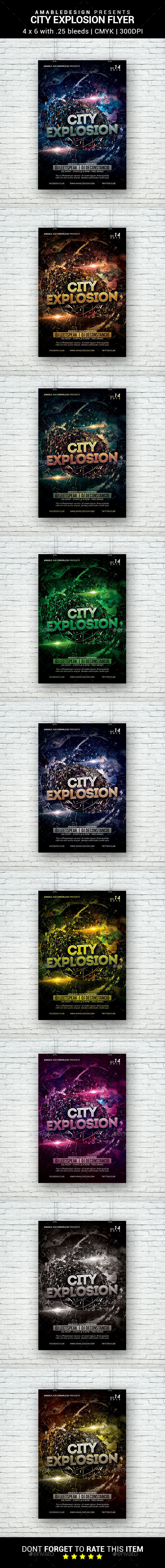 City Explosion Flyer - Clubs & Parties Events