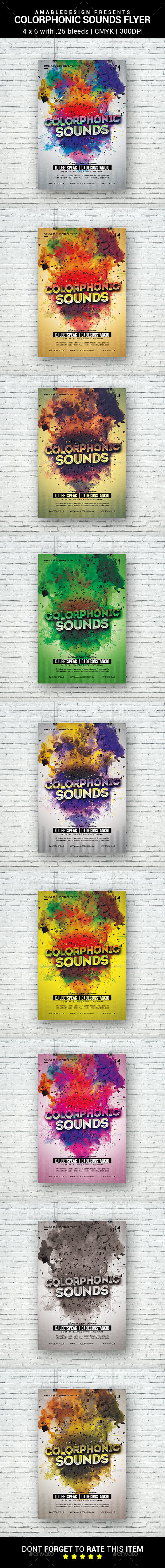 Colorphonic Sounds Flyer - Clubs & Parties Events