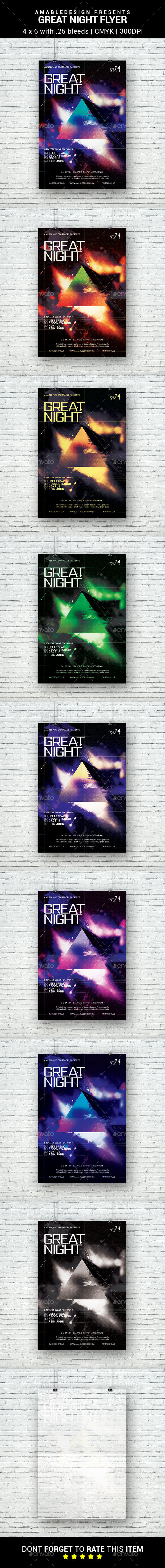 Great Night Flyer - Clubs & Parties Events