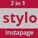 Stylo Instapage Template - ThemeForest Item for Sale