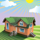 House in Summer and Winter - GraphicRiver Item for Sale