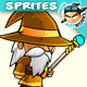 Wizard Game Character Sprites 08 - GraphicRiver Item for Sale