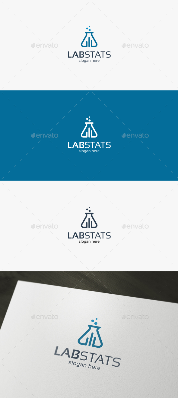 Lab Stats - Logo Template - Objects Logo Templates