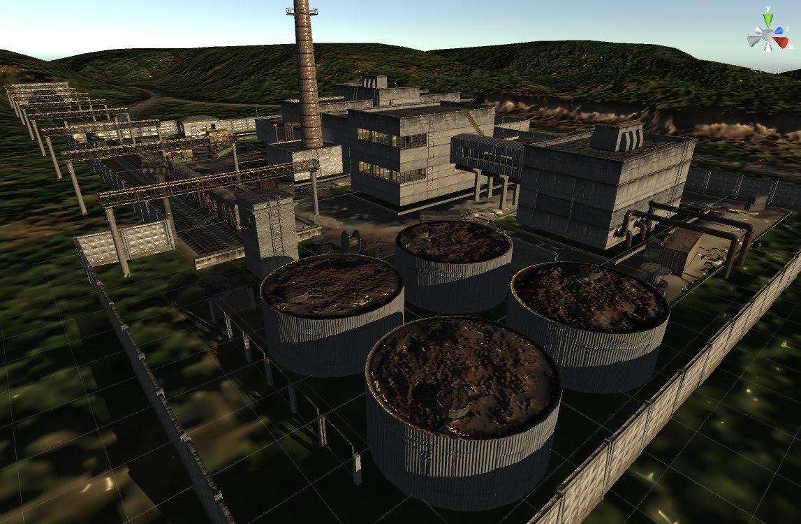 Ukraine Chernobyl Pripyat factory Agroprom