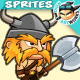 Viking Character Sprites 06 - GraphicRiver Item for Sale