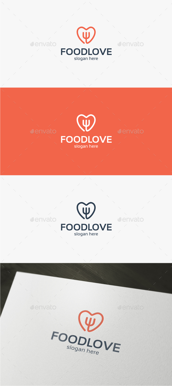 Food Love - Logo Template - Food Logo Templates