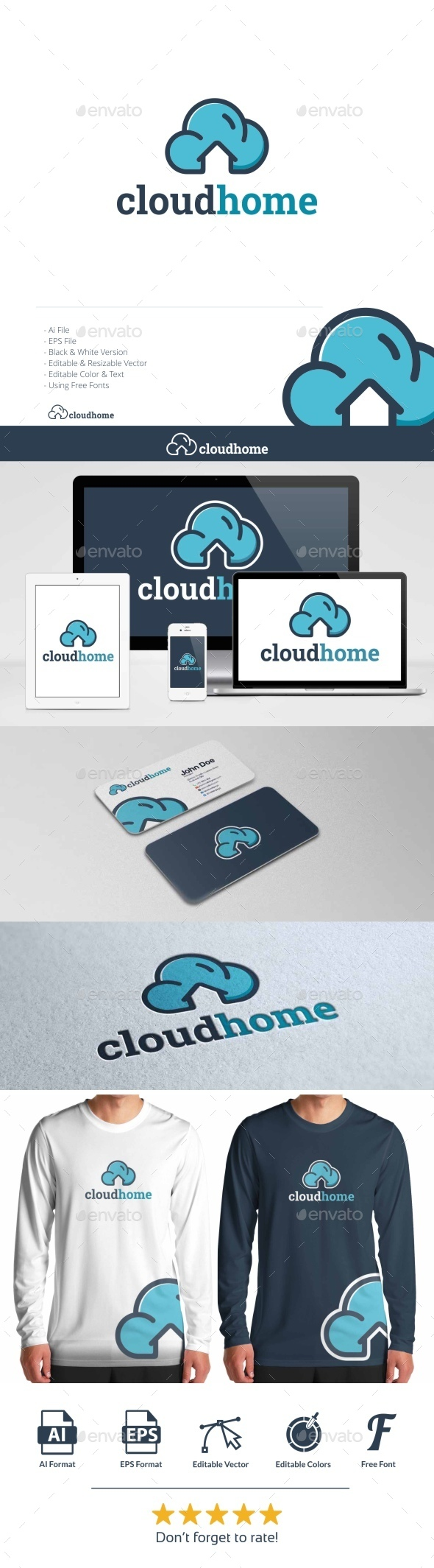 Cloud Home  - Objects Logo Templates