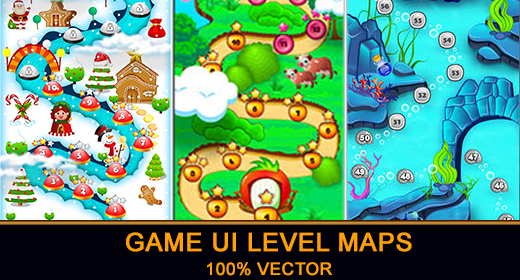 Game UI Level Maps