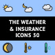 The Weather & Insurance Icons 50 - GraphicRiver Item for Sale