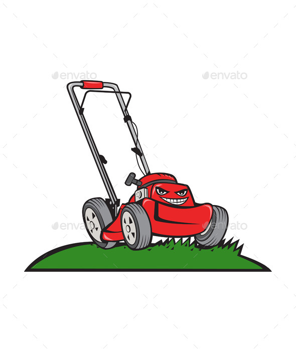 Lawnmower Front Isolated Cartoon - Man-made Objects Objects