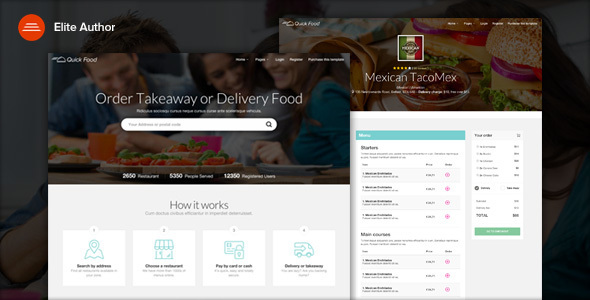 QuickFood – Delivery or Takeaway Food Template