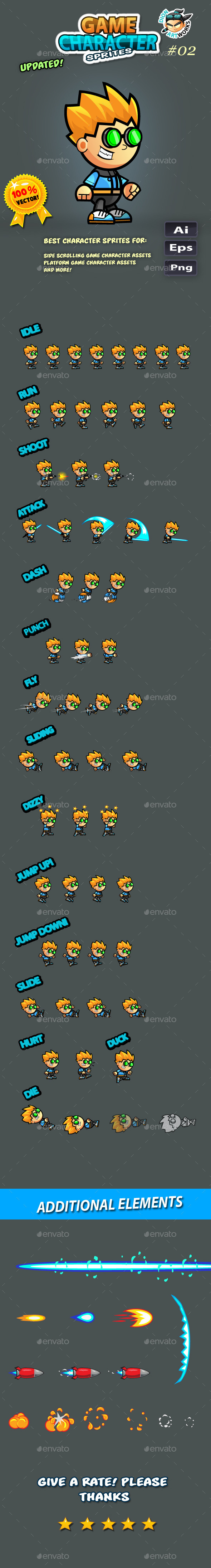 Game Character Sprites 02 - Sprites Game Assets