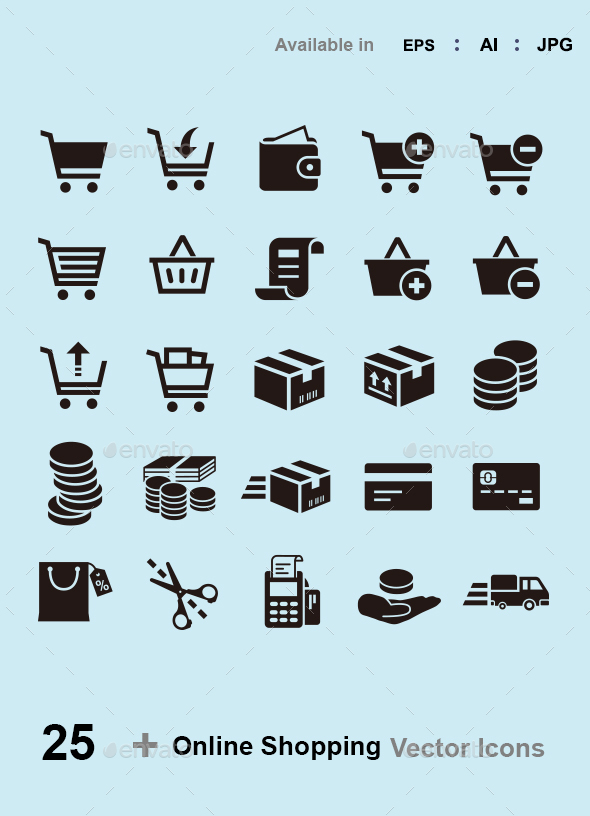 Online Shopping Vector Icons - Web Icons