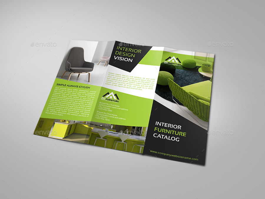 Furniture Products Catalog Tri-Fold Brochure By Owpictures