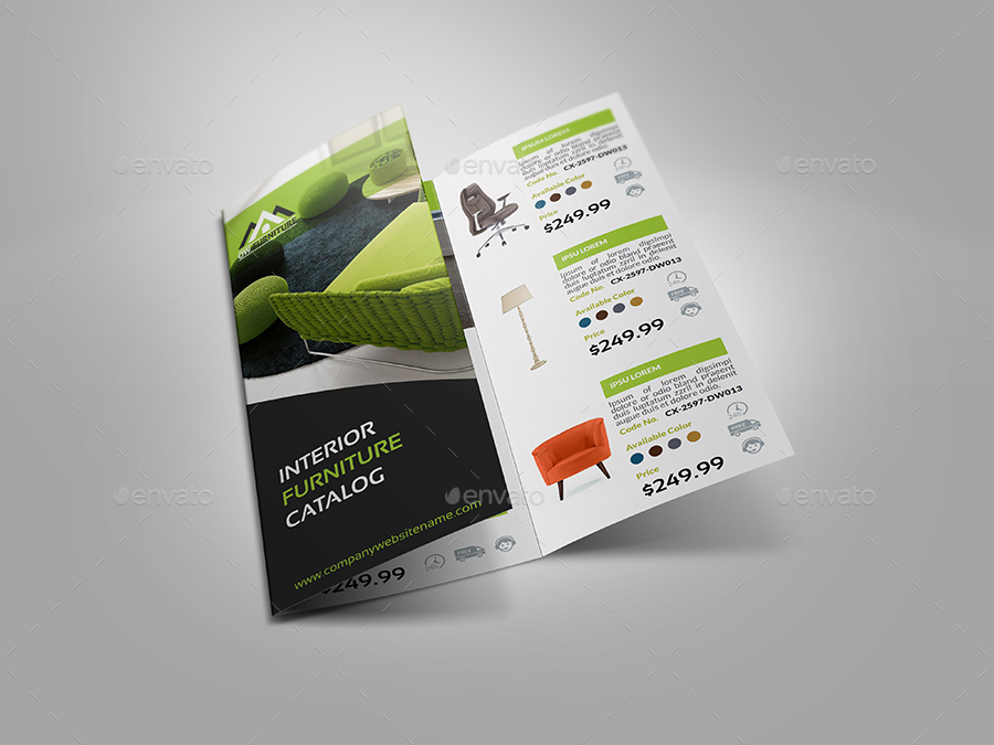 furniture products catalog tri fold brochure by owpictures
