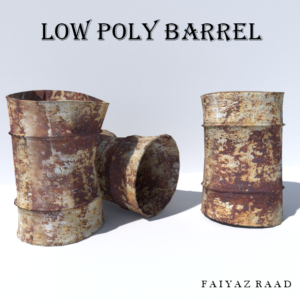 Rusty Steel Barrel - 3DOcean Item for Sale