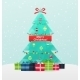 Christmas Tree With Gifts On a Snowy Background - GraphicRiver Item for Sale