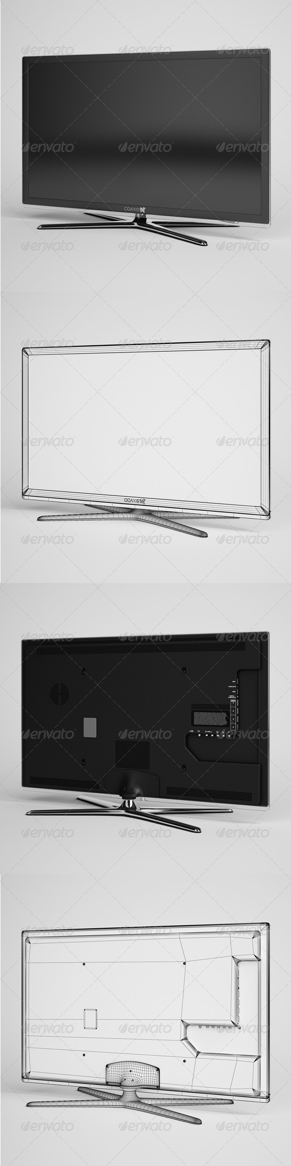 CGAxis TV Flatscreen Electronics 01 - 3DOcean Item for Sale