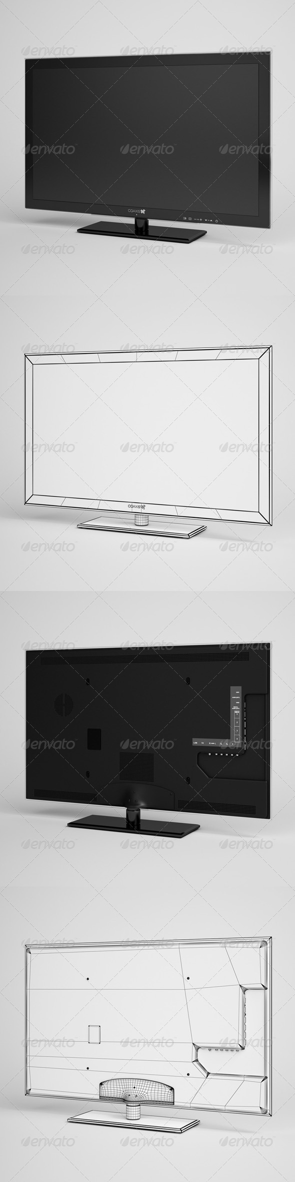 CGAxis TV Flatscreen Electronics 02 - 3DOcean Item for Sale