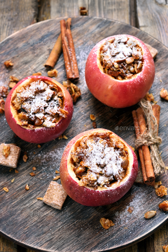 Delicious baked apples - Stock Photo - Images