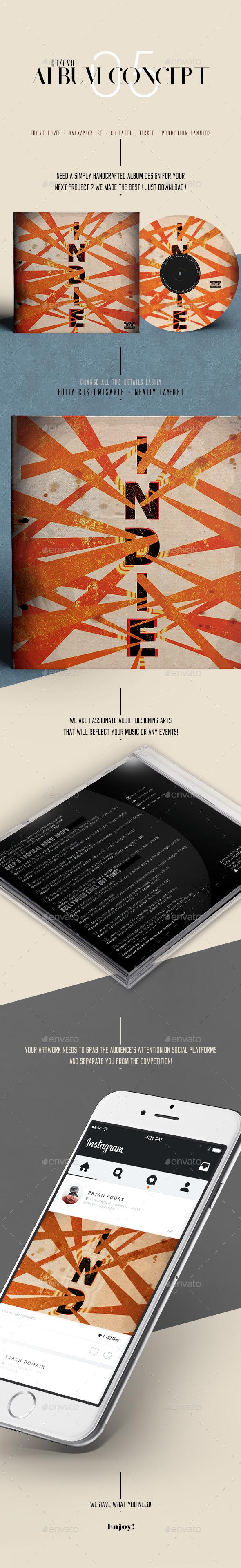 Album Concept with Extras - CD & DVD Artwork Print Templates