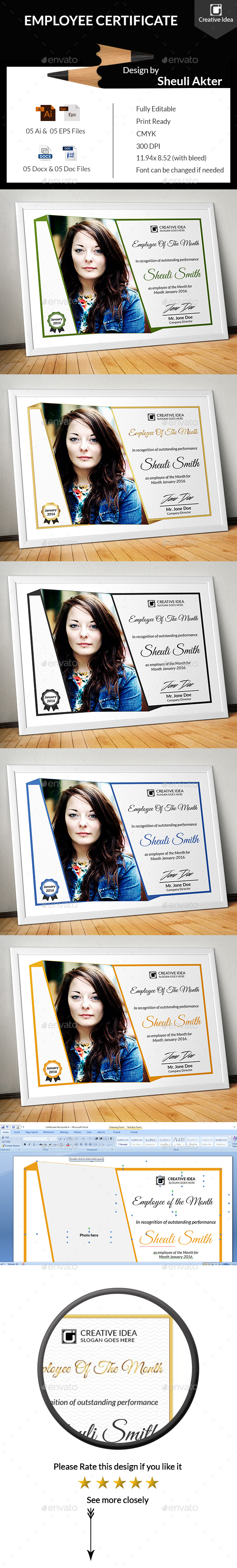Employee Certificate - Certificates Stationery