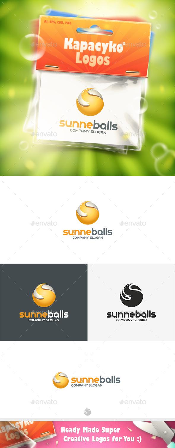 Sunne Balls Logo - Vector Abstract