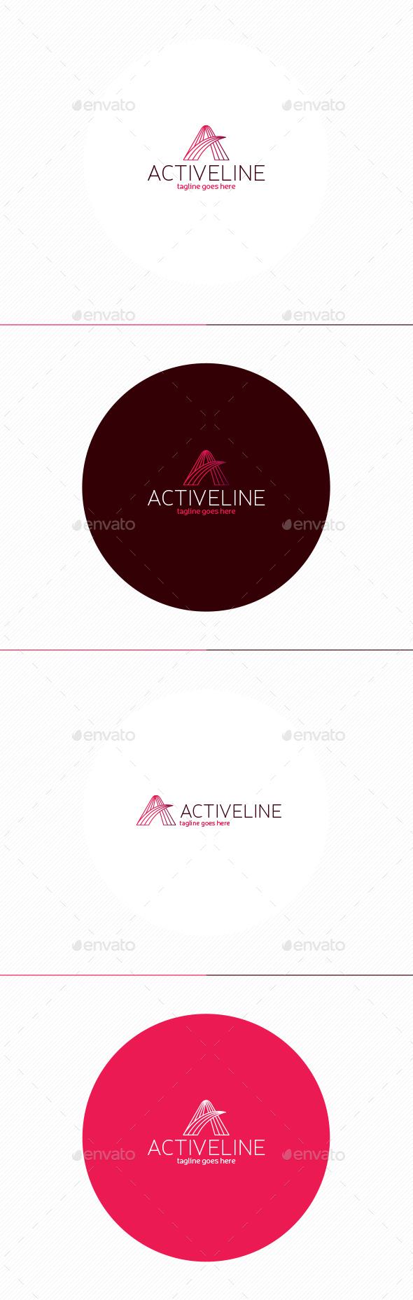 Active Line Logo • Letter A - Letters Logo Templates