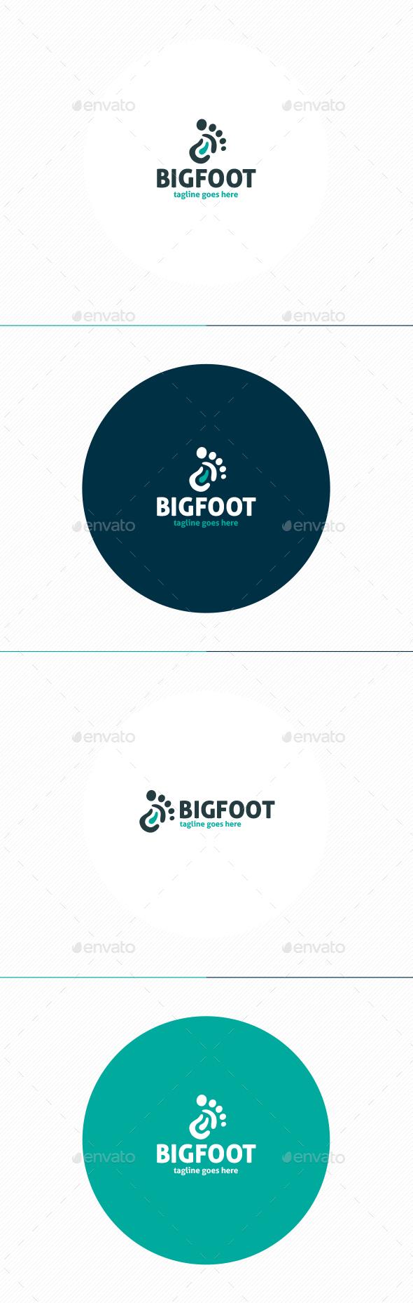 Big Foot Logo - Humans Logo Templates