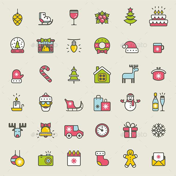 Christmas Icons Set - Vectors