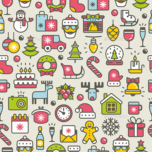 Christmas Pattern - Vectors