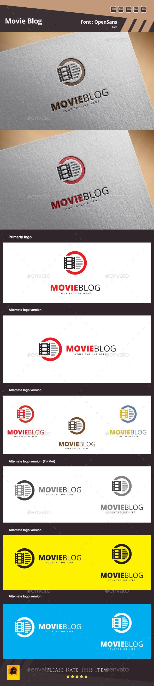 Movie Blog Logo - Symbols Logo Templates